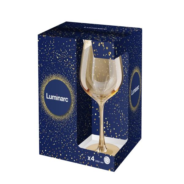 Набор бокалов для вина Luminarc Селест Золотой Мед 9304P (350 мл, 4 шт) - 1