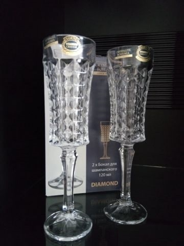 Бокалы для шампанского BOHEMIA Crystallite Diamond 1KD27/0/99T41/120 - 1