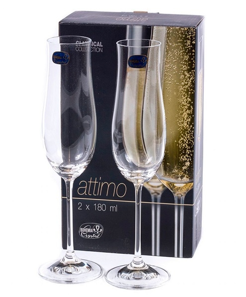 Набор бокалов для шампанского Bohemia Attimo 40807/180 (180 мл, 2 шт) - 1