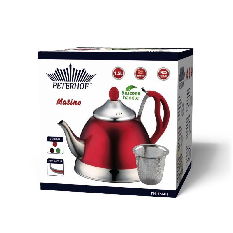 Чайник Peterhof с ситечком 15582-PH (1 л) - 1