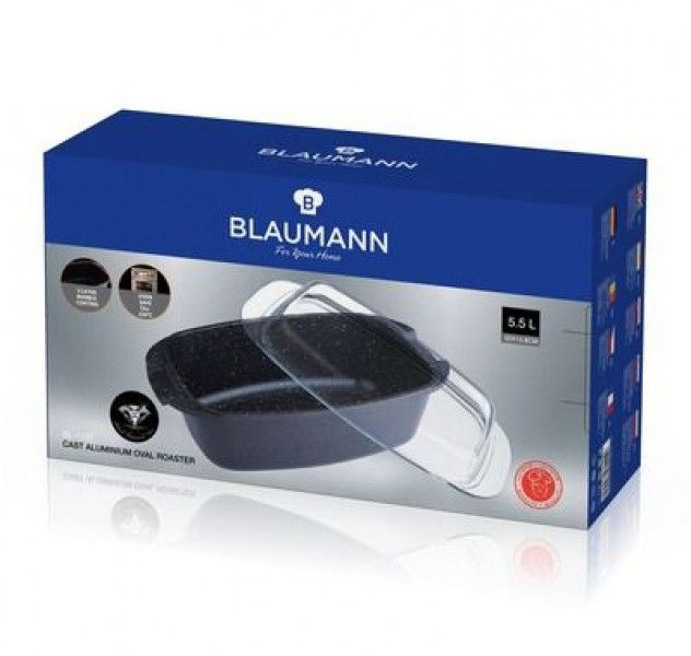 Гусятница Blaumann BLACK DIAMOND 1121bl (5.5 л) - 1