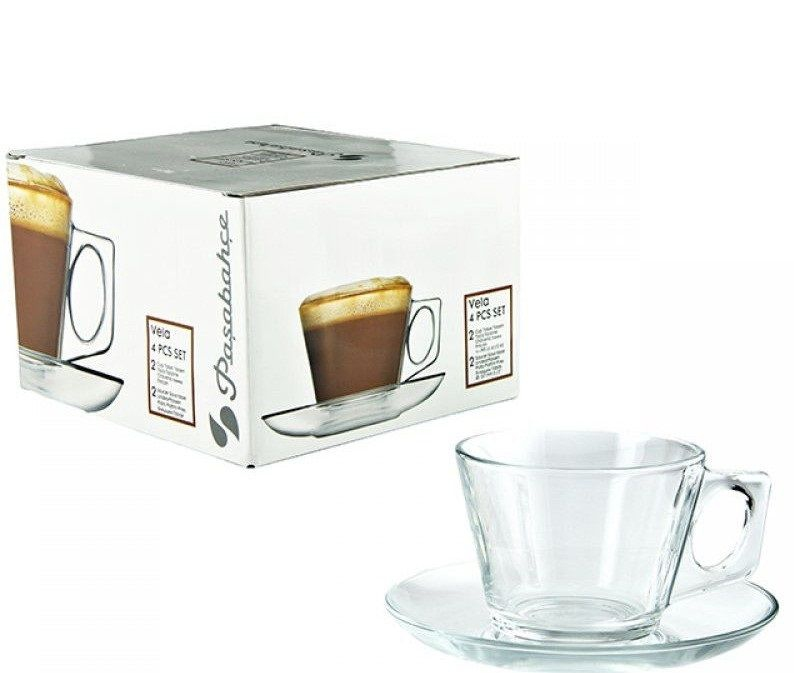 Чашка с блюдцем Pasabahce Bella 97302 (200 мл, 6 шт) - 1