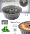 Форма для кекса с мраморным покрытием Blaumann 1585-BL ( 22х11 см) - 2